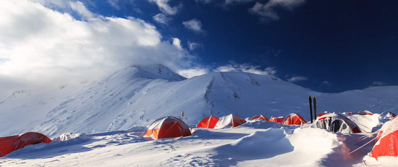 Lenin peak ski descent