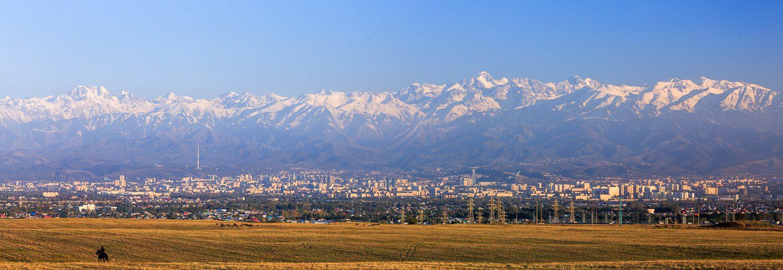 Almaty mountains panorama